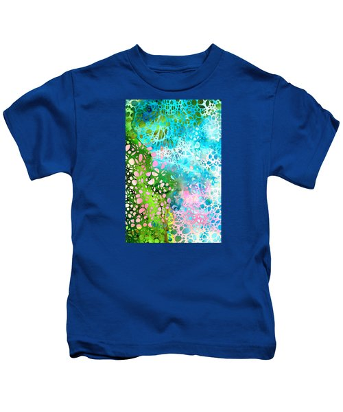 Colorful Art - Enchanting Spring - Sharon Cummings Kids T-Shirt
