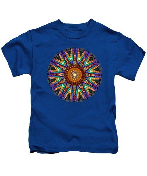Colorful Christmas Kaleidoscope By Kaye Menner Kids T-Shirt