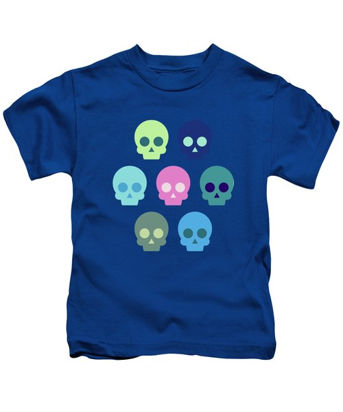Colorful Skull Cute Pattern Kids T-Shirt