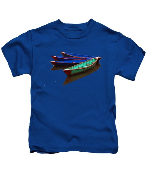 Colourful Fishing Boats  Kids T-Shirt by Aidan Moran