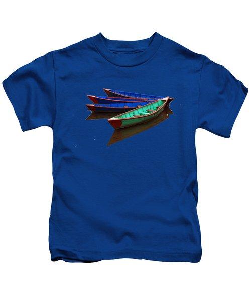 Nepalese Fishing Boats  Kids T-Shirt