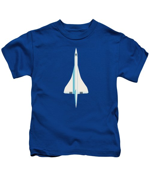 Concorde Jet Passenger Airplane Aircraft - Slate Kids T-Shirt