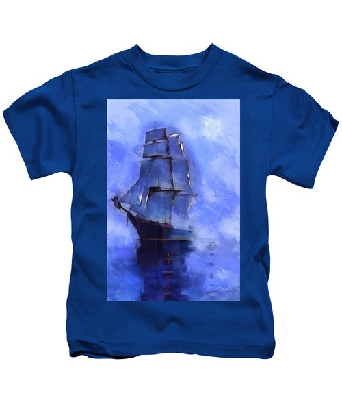 Cruising The Open Seas Kids T-Shirt