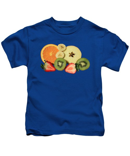 Cut Fruit Kids T-Shirt by Shane Bechler