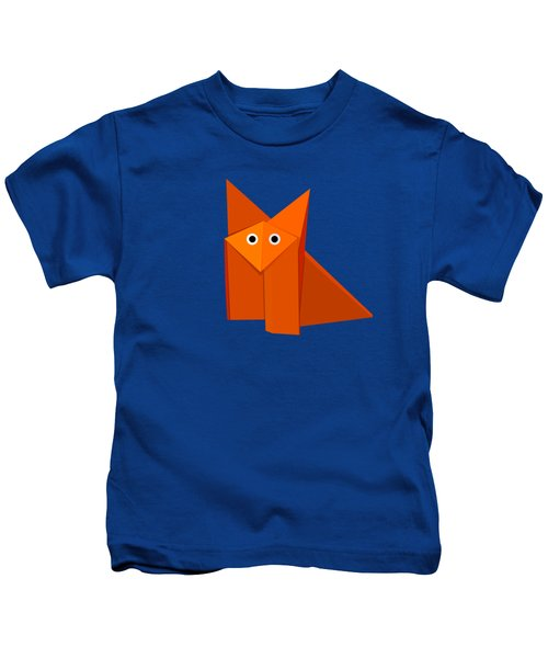 Cute Origami Fox Kids T-Shirt