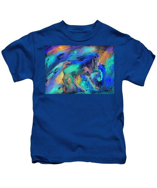 Dancing In The Rain Kids T-Shirt