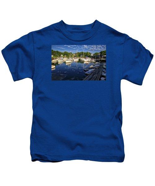 Dawn At Perkins Cove - Maine Kids T-Shirt