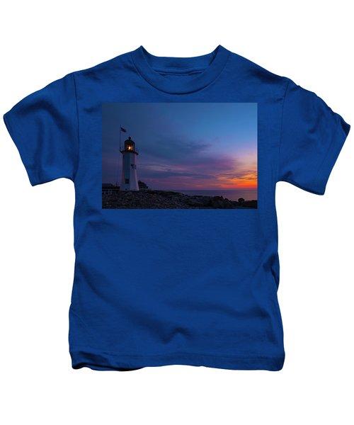 Dawn At Scituate Light Kids T-Shirt