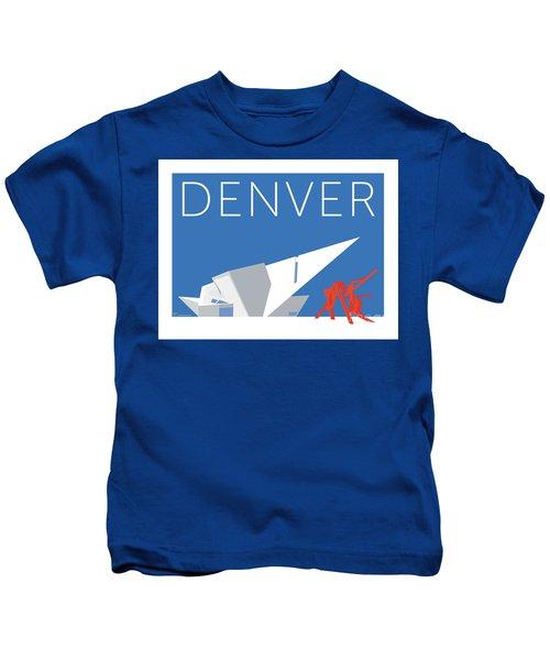 Denver Art Museum/blue Kids T-Shirt