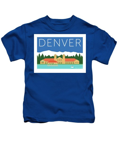 Denver City Park/blue Kids T-Shirt