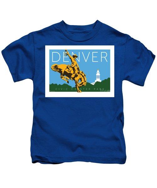 Denver Civic Center Park Kids T-Shirt