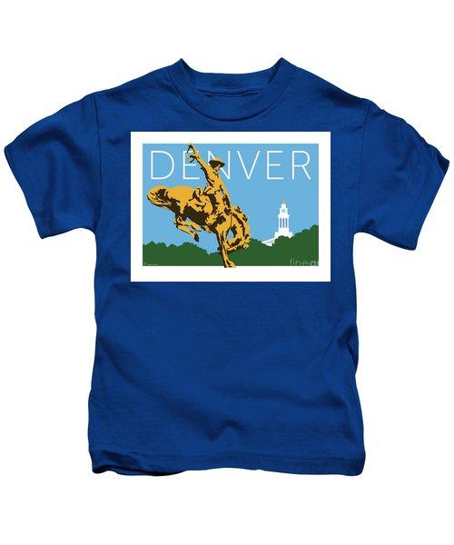 Denver Cowboy/sky Blue Kids T-Shirt