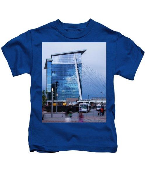Denver Union Station And Milennium Bridge Kids T-Shirt