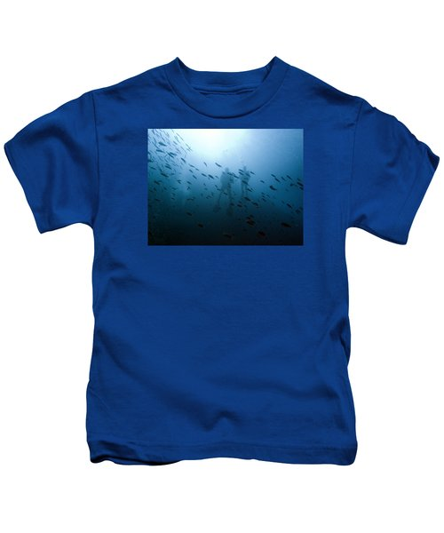 Diving With Fishes Kids T-Shirt