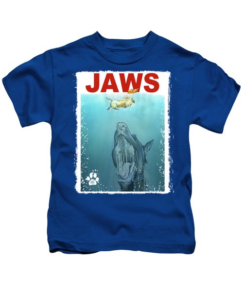 Dog-themed Jaws Caricature Art Print Kids T-Shirt