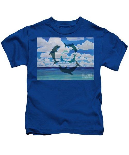 Dolphin Cloud Dance Kids T-Shirt