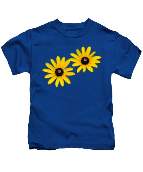 Double Daisies Kids T-Shirt by Christina Rollo