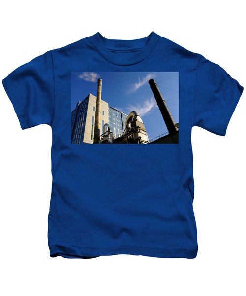 Downtown Buildings And Factory In Seattle Washington Kids T-Shirt