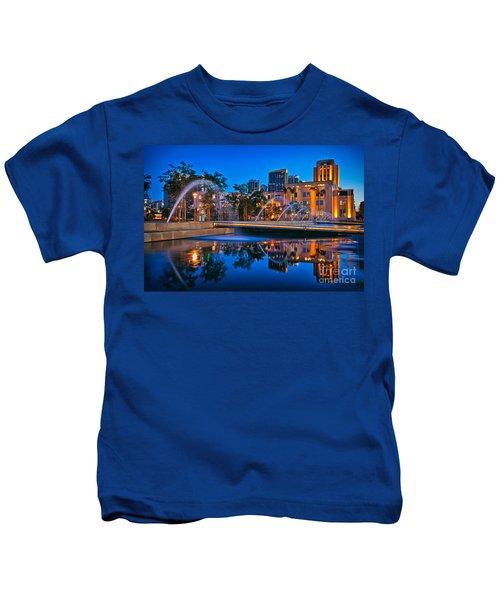 Downtown San Diego Waterfront Park Kids T-Shirt