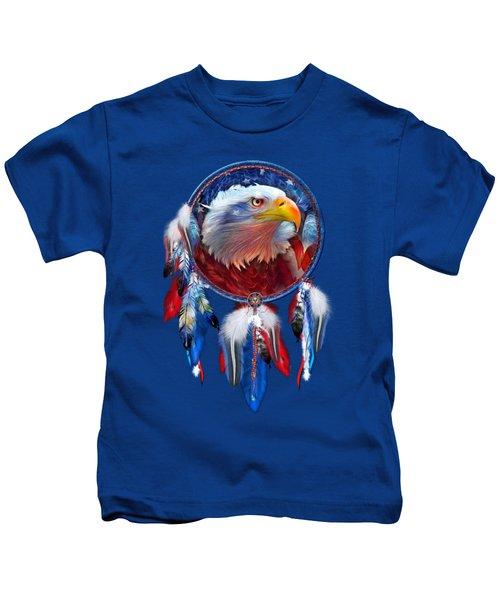 Dream Catcher - Eagle Red White Blue Kids T-Shirt