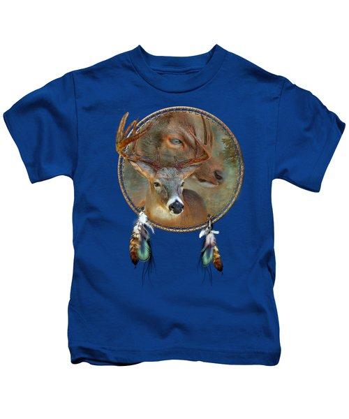 Dream Catcher - Spirit Of The Deer Kids T-Shirt