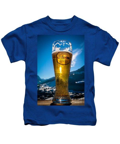 Edelweiss Beer In Kirchberg Austria Kids T-Shirt