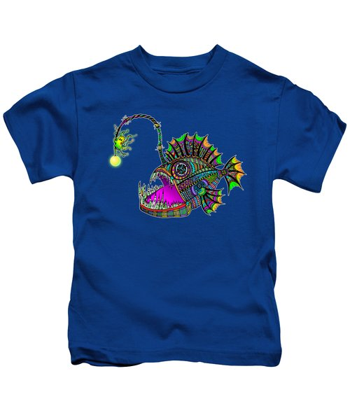 Electric Angler Fish Kids T-Shirt