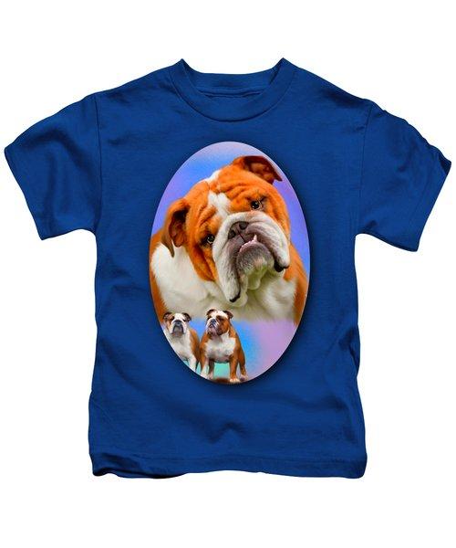 English Bulldog- No Border Kids T-Shirt