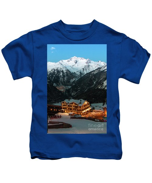 Evening Comes In Courchevel Kids T-Shirt