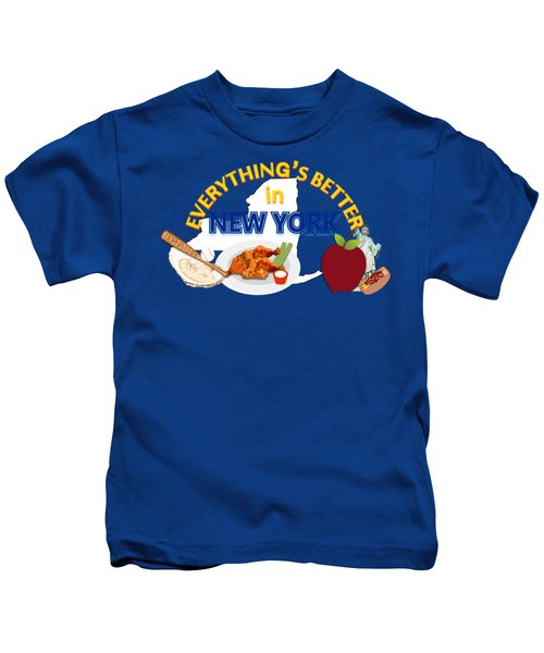 Everything's Better In New York Kids T-Shirt