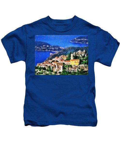 Eze And Cap Ferrat Kids T-Shirt