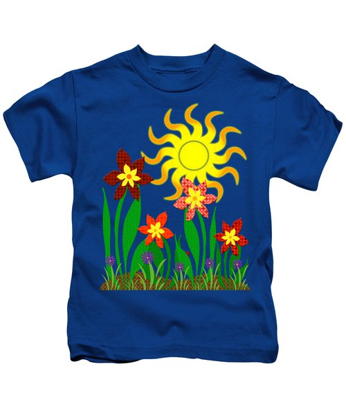 Fanciful Flowers Kids T-Shirt
