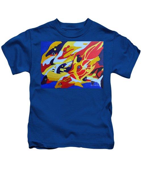 Fish Shoal Abstract 2 Kids T-Shirt