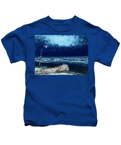 Fishing For The Moon Kids T-Shirt