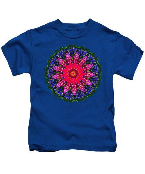 Floral Kaleidoscope By Kaye Menner Kids T-Shirt