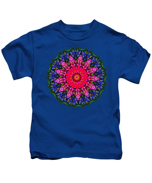 Floral Kaleidoscope By Kaye Menner Kids T-Shirt