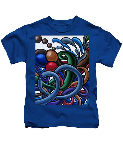 Colorful Abstract Art Painting Chromatic Water Artwork Kids T-Shirt