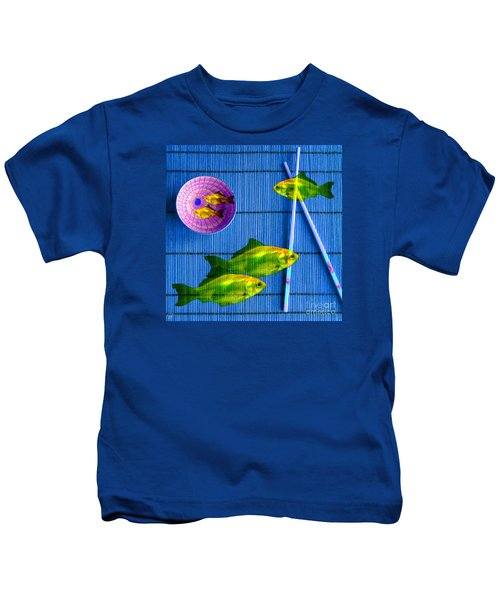 Flying Fish And The Pink Moon Kids T-Shirt