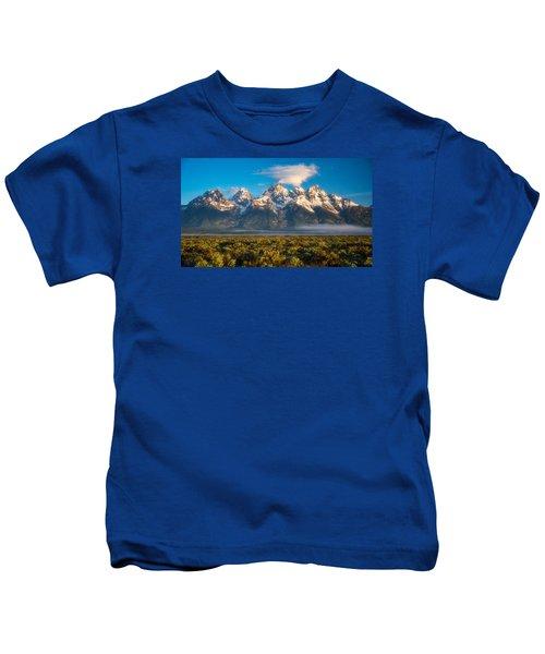 Fog At The Tetons Kids T-Shirt