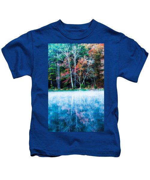 Fog On The Lake Kids T-Shirt