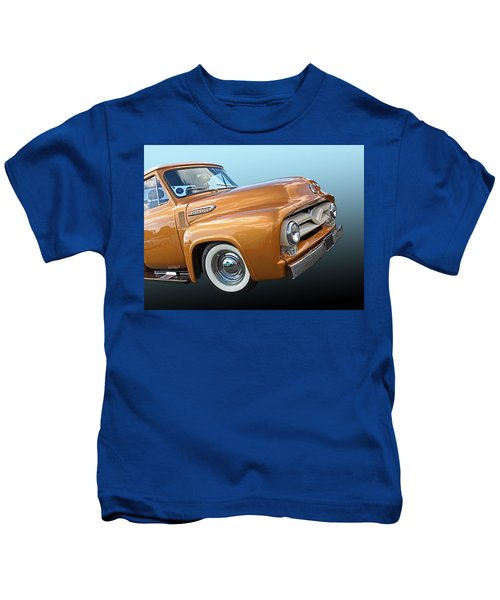 Ford F100 1955 In Bronze Kids T-Shirt