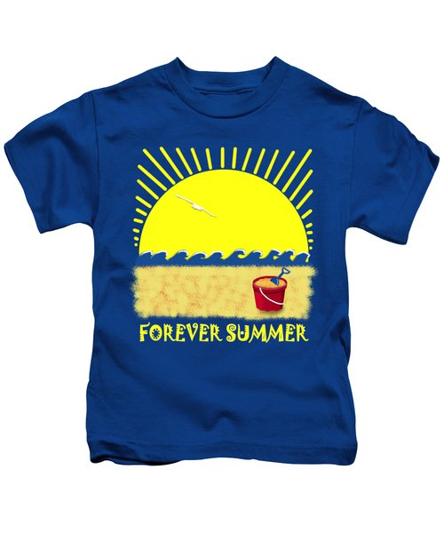 Forever Summer 8 Kids T-Shirt by Linda Lees