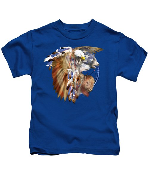 Freedom Lives Kids T-Shirt by Carol Cavalaris