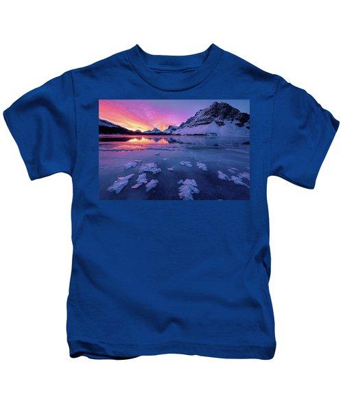 Fresh Ice On Bow Lake Kids T-Shirt
