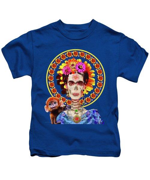 Frida De Muertos Kids T-Shirt