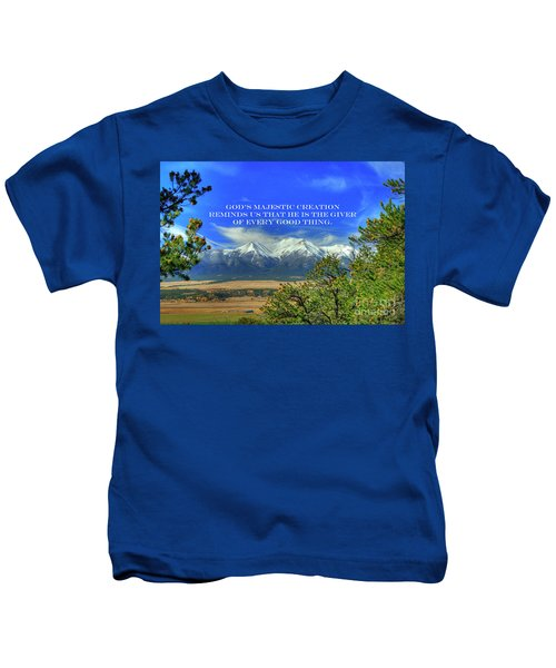 God's Majestic Creation Kids T-Shirt