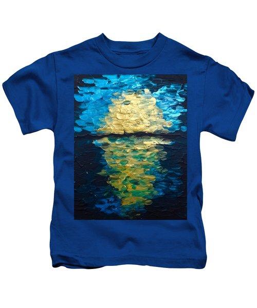 Golden Moon Reflection Kids T-Shirt