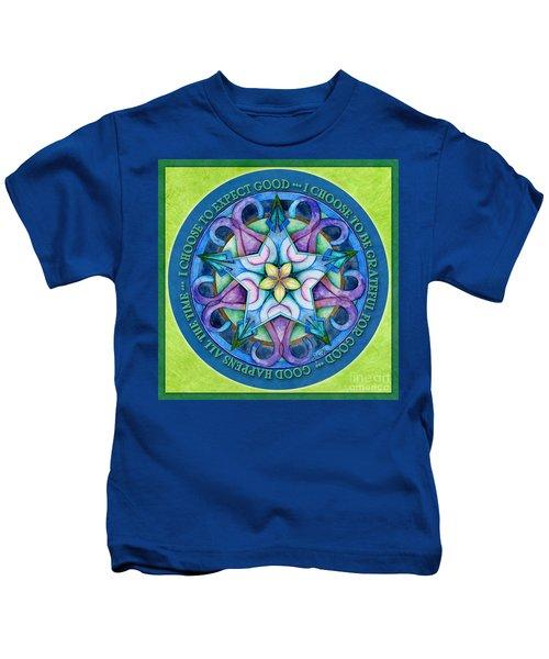 Good Happens Mandala Prayer Kids T-Shirt