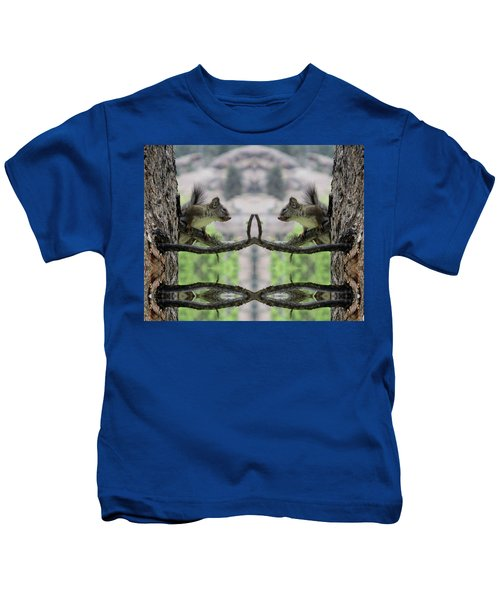 Gray Squirrel Soul Mates Kids T-Shirt