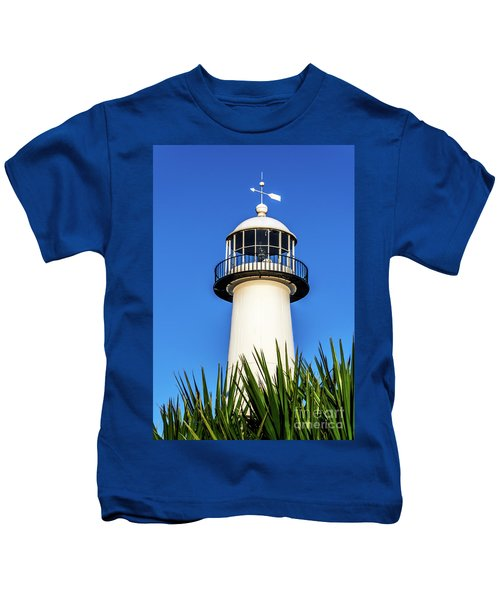Gulf Coast Lighthouse Seascape Biloxi Ms 3819a Kids T-Shirt